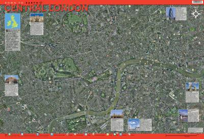 Laminated Central London Map Educational Chart Poster Print