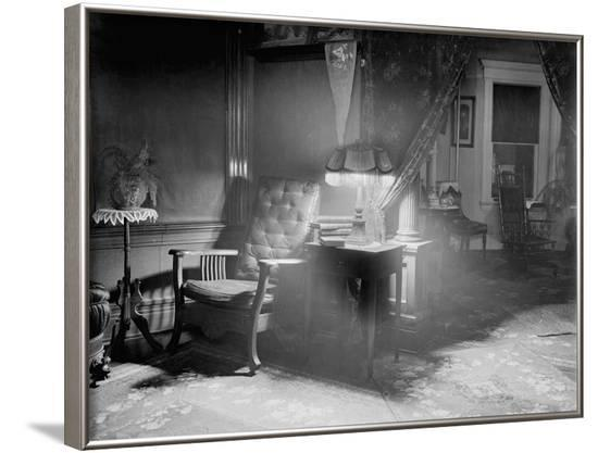 Lamp and Chair Inside Home--Framed Photographic Print