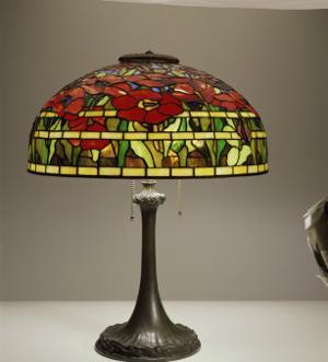 Lamp, Tiffany Poppy Table