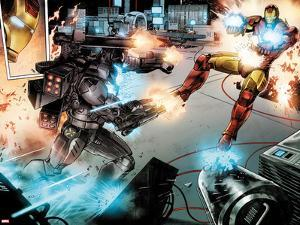 Iron Man: Rapture No.3: War Machine and Iron Man Shooting by Lan Medina