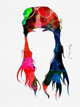 Axl Rose Watercolor by Lana Feldman