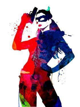 Catwoman Watercolor by Lana Feldman