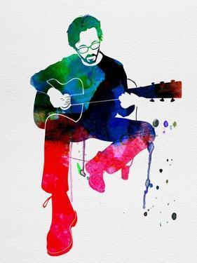 Eric Clapton Watercolor by Lana Feldman