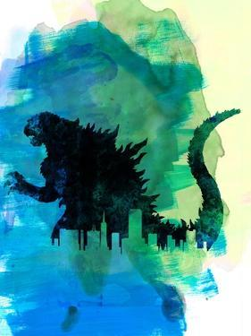 Godzilla Watercolor by Lana Feldman