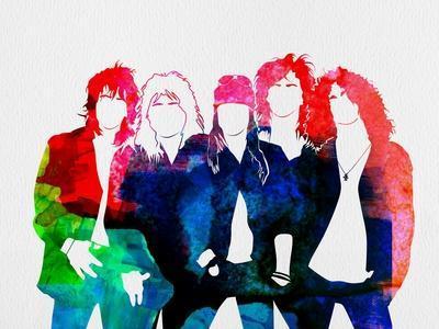 Guns N' Roses Watercolor
