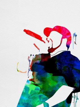 Ice Cube Watercolor by Lana Feldman