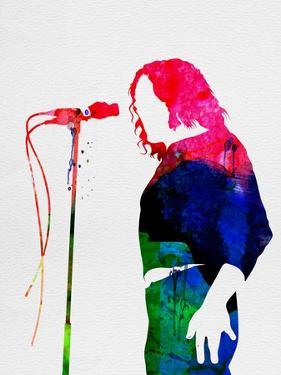 Joe Cocker Watercolor by Lana Feldman