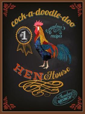 Chalkboard Poster for Chicken Restaurant by LanaN.