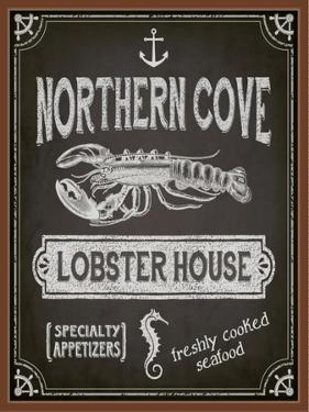 Chalkboard Poster for Seafood Restaurant by LanaN.