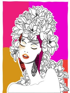 Hand Drawn Pop-Art Poster of a Fashion Model by LanaN.