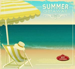 Tropical Beach Summer Poster by LanaN.