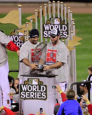 Lance Berkman & Albert Pujols - World Series Championship Trophy 2011 World Series (#43)