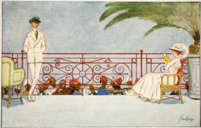 Romeo and Juliet-Balcony Scene at Shepheard's Hotel, Cairo, from 'The Light Side of Egypt', 1908