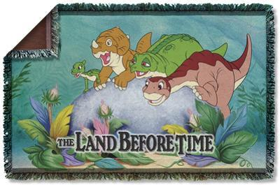 Land Before Time - Littlefoot & Friends Woven Throw