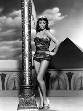 Land of the Pharaoes by Howard Hawks with Joan Collins, British actress born may 23rd, 1933, here 1