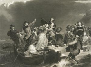 Landing of the Pilgrims on Plymouth Rock in 1620