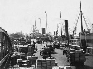 Landing Stage of Liverpool Docks