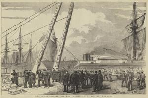 Landing the Wounded from HMS Retribution, at Portsmouth