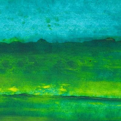 Oil Painting Texture. Green And Blue
