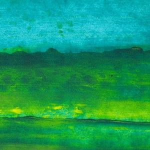 Oil Painting Texture. Green And Blue by landio