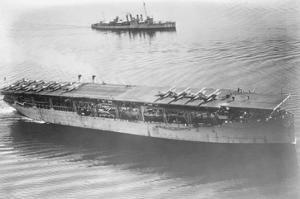 Langley Aircraft Carrier at Sea