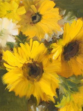 Bright Yellow Sunflowers by Lanie Loreth