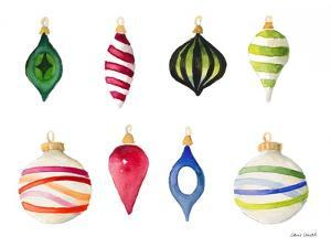 Christmas Ornaments Watercolor I by Lanie Loreth