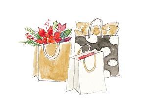 Holiday Shopping Bags I by Lanie Loreth