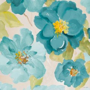 Teal Floral Delicate I by Lanie Loreth
