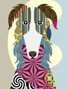 Borzoi Russian Wolfhound by Lanre Adefioye