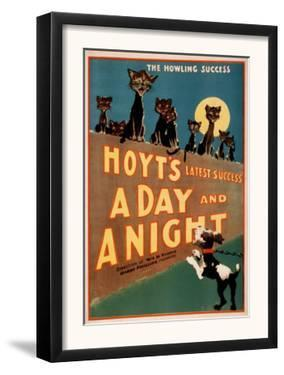 """A Day and a Night"" Cats and Dogs Musical Poster by Lantern Press"