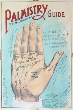 A Picture of Good Health - Vintage Palmistry Chart Lithograph by Lantern Press