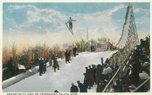 A Ski Tournament Jump, Skier Making 132 ft - Duluth, MN by Lantern Press