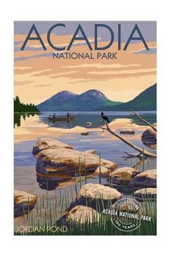 Acadia National Park, Maine - Celebrating 100 Years - Jordan Pond by Lantern Press