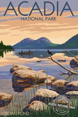 Acadia National Park, Maine - Celebrating 100 Years - Jordan Pond by Lantern Press