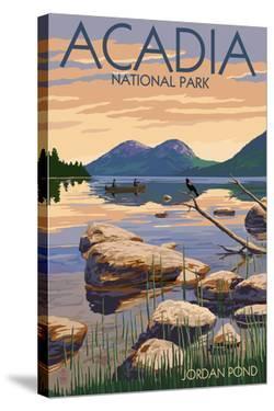 Acadia National Park, Maine - Jordan Pond by Lantern Press