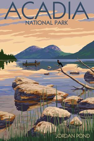 Acadia National Park, Maine - Jordan Pond by Lantern Press