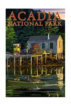 Acadia National Park, Maine - Lobster Shack by Lantern Press