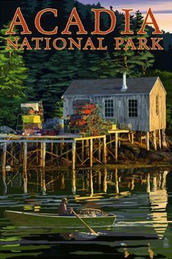 Acadia National Park, Maine - Lobster Shack by Lantern Press