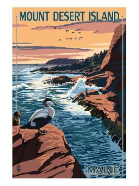 Acadia National Park, Maine - Mount Desert Island by Lantern Press