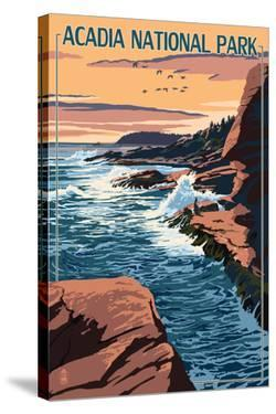 Acadia National Park, Maine - Mount Desert Island by Lantern Press