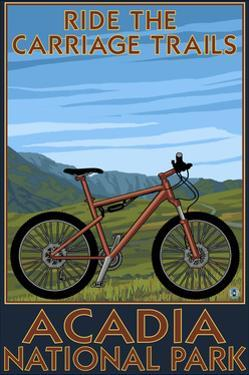 Acadia National Park, Maine - Ride the Carriage Trails by Lantern Press