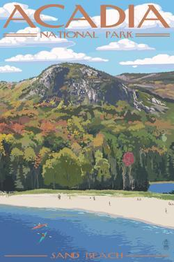 Acadia National Park, Maine - Sand Beach Scene by Lantern Press