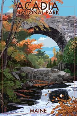Acadia National Park, Maine - Stone Bridge by Lantern Press