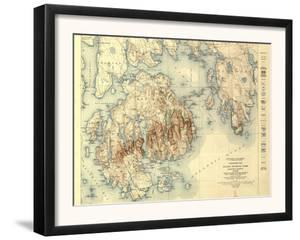Acadia National Park - Topographic Panoramic Map by Lantern Press