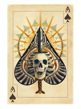 Ace of Spades - Playing Card by Lantern Press