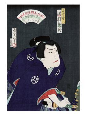 Actor Sawamura Tossho as Shirai Gonpachi, Japanese Wood-Cut Print by Lantern Press
