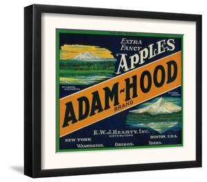 Adam-Hood Apple Crate Label - Hood River, OR by Lantern Press