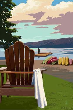 Adirondack Chairs by Lantern Press
