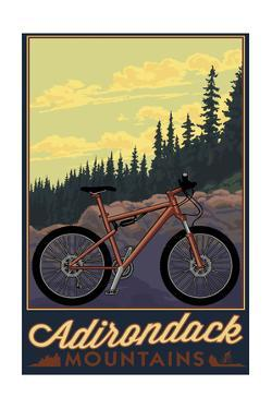 Adirondack Mountains, New York - Ride the Trails by Lantern Press